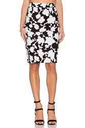 Kate Spade Floral Skirt Black And White
