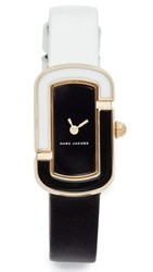 Marc Jacobs The Leather Watch Gold Black White