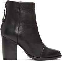 Rag And Bone Black Leather Ashby Boots