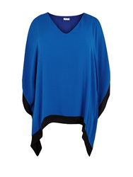 Windsmoor Cobalt And Black Chiffon Tunic Bright Blue