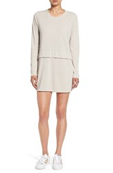 Sincerely Jules Women's 'Savoy' Long Sleeve Shirtdress Grey