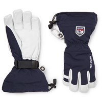 Hestra Leather And Shell Ski Gloves With Removable Liner Blue