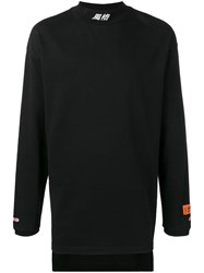 Heron Preston Fitted Turtleneck Chinese Top Black