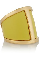 Maiyet Butterfly Gold Plated Resin Ring Metallic