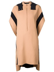 Cedric Charlier Cedric Charlier Long Hooded Cape Nude And Neutrals