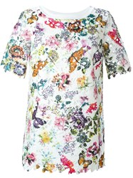 I'm Isola Marras Floral Print Lace T Shirt White