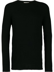 Ma'ry'ya Ribbed Knit Detail Sweater Black