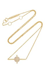 Delfina Delettrez Sliding Drops Chain With Rose Chalcedony Pink