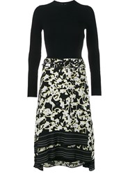 Proenza Schouler Printed Fit And Flare Dress Black