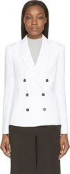 Cnc Costume National White Double Breasted Blazer