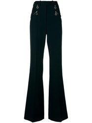 Nina Ricci Flared High Waisted Trousers Black