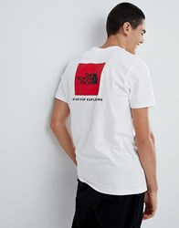The North Face Red Box T Shirt In White