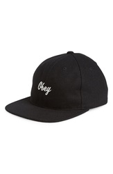 Obey 'Walter' Ball Cap Black