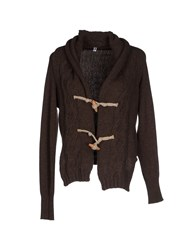 Cooperativa Pescatori Posillipo Knitwear Cardigans Women Dark Brown