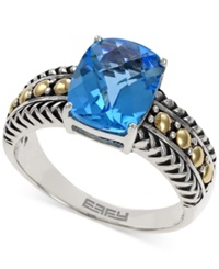 Effy Collection Balissima By Effy Blue Topaz Ring In 18K Gold And Sterling Silver 3 1 3 Ct. T.W.