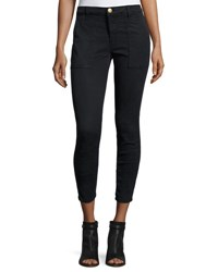 Current Elliott The Station Agent Cropped Skinny Jeans Washed Black