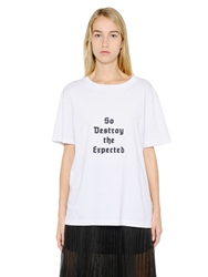 Yang Li 'So Destroy The Expected' Cotton T Shirt White