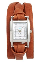La Mer Women's Collections 'Milwood' Leather Wrap Watch 35Mm
