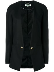 Kenzo Collarless Open Blazer Black