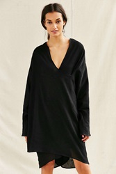 Urban Renewal Remade Gauze Cocoon Dress Black