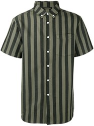 Saturdays Surf Nyc Striped Shirt Grey