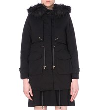 Claudie Pierlot Gaston Bis Stretch Cotton Coat Noir