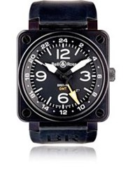 Bell And Ross Br 01 93 Gmt 24H Watch Black