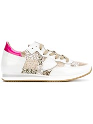 Philippe Model 'Tropez' Sneakers Women Leather Patent Leather Nylon Rubber 40 White
