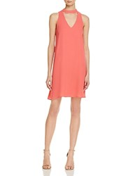 Aqua Banded Neck Swing Dress 100 Exclusive Coral