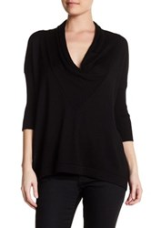 Cullen Easy Drape Cowl Neck Silk Blend Pullover Black
