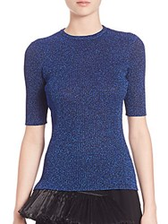 Opening Ceremony Disco Rib Knit Top Blue