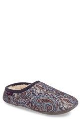 Bedroom Athletics Women's Cora Genuine Shearling Lined Slipper Denim Chocolate Paisley