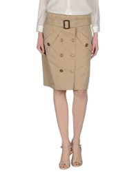 Burberry Brit Skirts Knee Length Skirts Women Beige