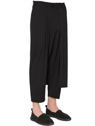 Isabel Benenato Side Layered Cool Wool Crop Pants