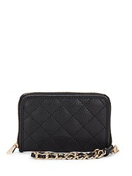 Kc Jagger Emma Quilted Faux Leather Wristlet Wallet Black