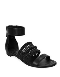 Tahari Dorm Ankle Strap Sandals Black