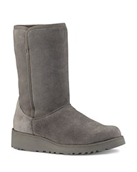 Ugg Amie Slim Mid Shaft Wedge Boots Gray