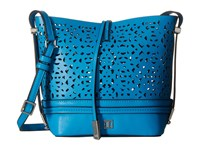 Ivanka Trump Briarcliff Small Convertible Bucket Vivid Blue Lasercut Non Leather Convertible Handbags