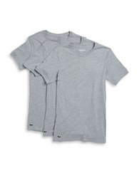Lacoste Three Pack Supima Cotton Tee Set Grey