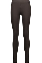 Vince Scrunch Stretch Jersey Leggings Dark Brown