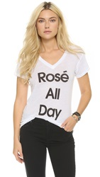 Wildfox Couture Rose All Day Easy Tee Clean White