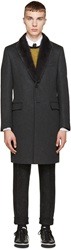 Fendi Grey Mink Collar Coat