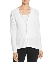 Eileen Fisher Hooded Zip Front Cardigan White
