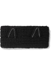 Eugenia Kim Kat Crystal Embellished Wool Headband Black