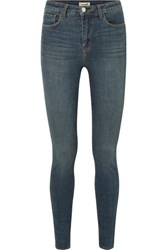 L'agence Marguerite High Rise Skinny Jeans Blue