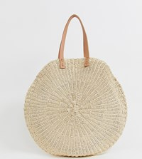 South Beach Extra Large Straw Bag Beige