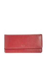 Tusk Madison Leather Gusseted Clutch Red