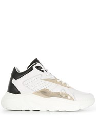 D.A.T.E. Panelled Lace Up Sneakers White