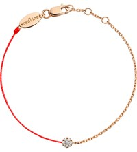 The Alkemistry Red Thread And 18Ct Rose Gold Black Dark Salmon And Diamond Bracelet