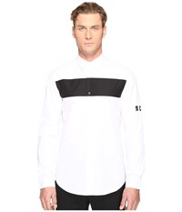 Mcq By Alexander Mcqueen Shields Pop Button Up Optic White